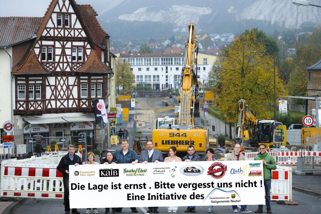 Anliegende Gewerbetreibende vor der Zollweg-Baustelle - Foto: Klaus Lippert