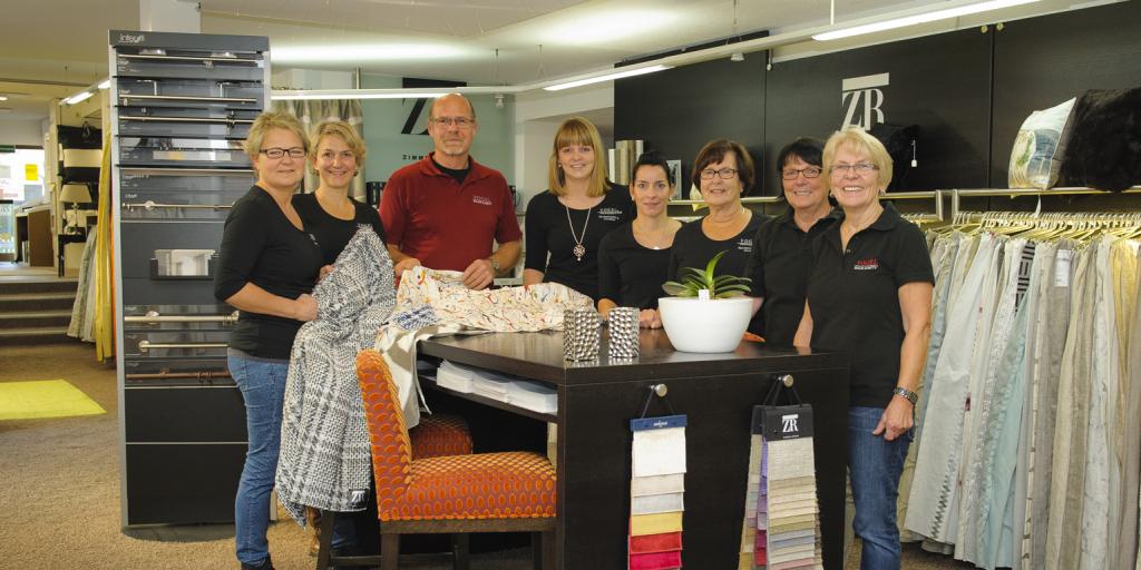 Das Team von Vogel Raum & Bett um Kerstin Ihrig-Vogel. Foto: Fotostudio Lippert